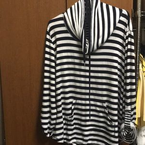 Blue/white striped nautical tunic